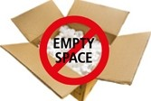 Illustration emphasizing importance of not having empty in boxes