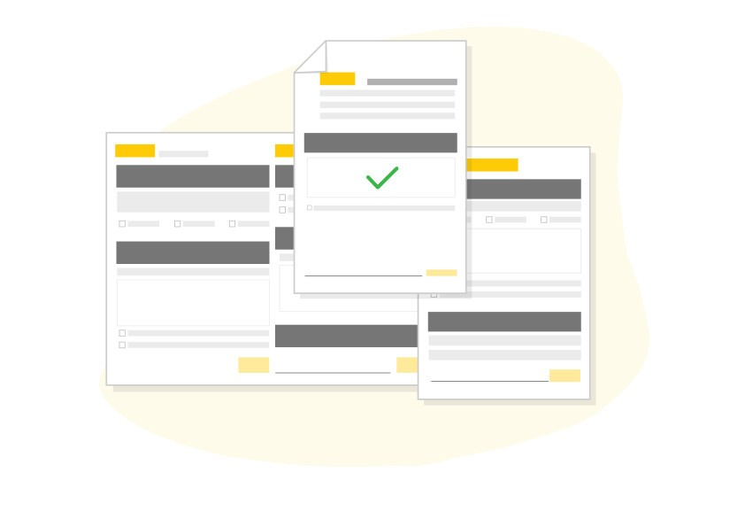 Illustration of creating shipment documents online with MyDHL+